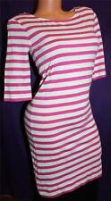 S Juicy Couture AUTHENTIC Sailor Striped Dress Summer Beach HOT PINK WHITE