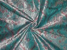 "Silk Brocade Vestment Fabric Light Silver,Pink & Blue color 44"" BRO359[1]"