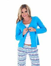 Women's PJS Cotton Sleepwear 3 Piece Pajama Set Long Sleeve Top, Pants, Cami
