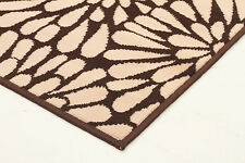 NEW Modern Burst Pattern Rug Brown Beige