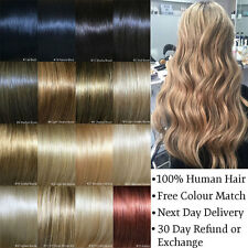 Clip in Hair Extensions Remy Human Hair 15 20 24 26 30 inch Blonde Brown Black