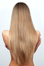 Weave/ Weft Remy Human Hair Extensions 20 inch Wavy Straight Blonde Brown Black