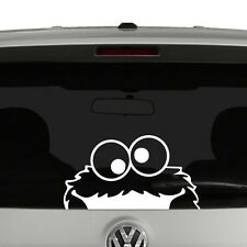 Cookie Monster Peeking Sesame Street Inspired Vinyl Decal Sticker