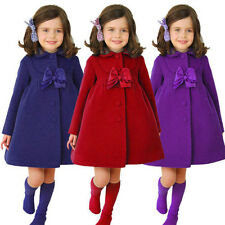 Winter Baby Kids Girls Clothes Outerwear Warm Fleece Trench Coat Jacket Fashion