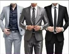 Mens Colorful Dress formal Fashion Slim fit Casual One Button Blazer Pants Suits