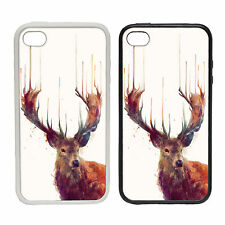 Liquid Stag -Rubber and Plastic Phone Cover Case- Nature Beauty Paint Animal