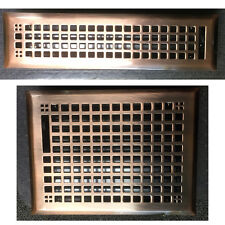 Antique Copper Finish Craftsman / Mission Floor Register Vents 8x10 2x12 SALE