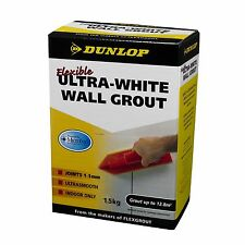 Dunlop FLEXIBLE COLOURED GROUT Joints 1-3mm, ULTRA-WHITE *USA Brand-1.5Kg Or 5Kg