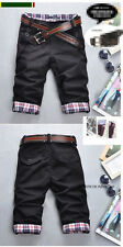 Hot Men's Stylish Designed Straight Slim Fit Trousers Casual Cropped Shorts Pant
