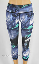 NEW LULULEMON Wunder Under Crop Sz 4 6 Milky Way Denim Luon Crops NWT FREE SHIP