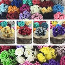 2 Bunches 12 Heads Colourfast Flowers Foam Bouquet Wedding Artificial 5.5cm