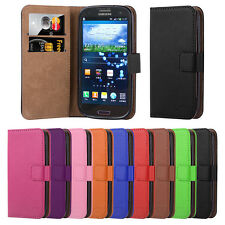 Samsung Galaxy S3 i9300 Flip Leather Wallet Book Card Slots Stand Case Cover