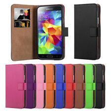 Samsung Galaxy S5 i9500 Flip Leather Wallet Book Case Cover Screen Guard  Stylus