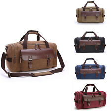 Men Genuine Leather Duffle Travel Gym Shoulder Bag Hand Luggage Carry On Handbag
