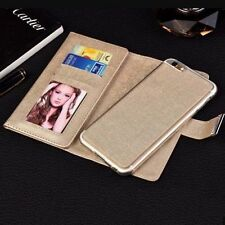 Luxury Leather Case Magnetic Detachable Wallet Card Flip Cover For iPhone 7 Plus