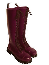 30-hole Ranger Boots Combat Bordeaux Red Wine