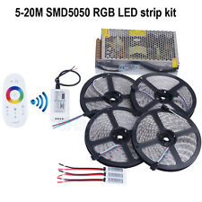 5-20m 12V RGB led strip light SMD5050 5M 300led Waterproof+RF touch controller