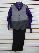 Infant, Toddler & Boys Young Kings $45-$65 3pc Purple/GrayVest Suit Size 3/6m-20