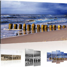 Mural Beach picture on canvas Waves Canvas picture Sea Art print