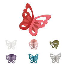50pcs Butterfly Paper Napkin Rings for Wedding Party decoration white T1