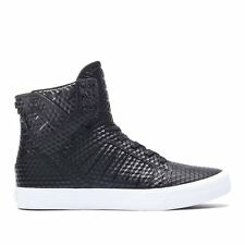 SUPRA NEW Men's Hi-Top Shoes Black Skytop Skate BNIB