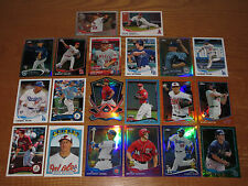 Bryce Harper Mike Trout Machado Rizzo Chrome Topps Rookie Refractor RC Lot (20)