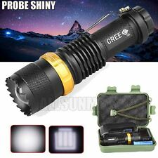 New Tactical 4000LM CREE Q5 AA/14500 3 Modes ZOOMABLE LED Flashlight Torch Lamp