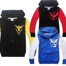 New Pokemon Go Kids Boys Girls Long Sleeve Hoodies jumpers Casual Tops Clothes