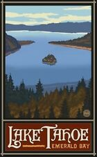 Northwest Art Mall 28cm x 43cm Poster Lake Tahoe Emerald Bay by Paul A. Lanquist