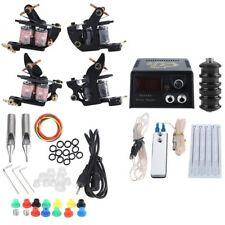 Professional Complete Tattoo Kit 2 Machine Guns Shader Needles Power Supply Tips