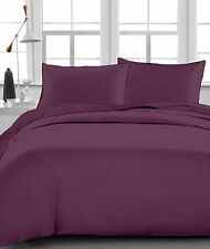 1200 Thread Count Egyptian Cotton 3PC's Duvet Set Wine Solid