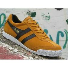 Gola Harrier Suede CMA192AY Mens Shoes Yellow Black Casual Sneakers