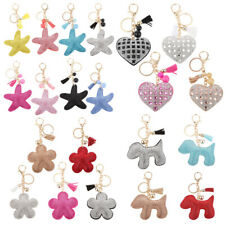 Crystal Rhinestone Starfish/ Heart/ Flower/ Dog Pendant Purse Bag Charm Keyring