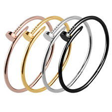 Beautiful Inspired Stainless Steel Nail Style Cuff  Bangle Bracelet for Ladies