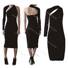 Ladies Women One Shoulder Cocktail Evening Party Ball Gown Maxi Bodycon Dress