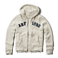 NEW ABERCROMBIE & FITCH MEN * A&F Wanika Falls Hoodie Zip Jacket LT Heather Grey