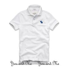 NEW ABERCROMBIE & FITCH MEN * A&F Baker Mountain Cotton Polo Shirt White L / XXL