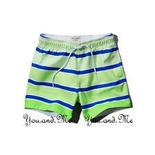 NEW ABERCROMBIE FITCH MEN A&F Cascade Lakes Swim Board Trunks Shorts Green M-XL