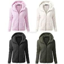 Fashion Womens Thicken Fleece Hooded Warm Coat Parka Overcoat Jacket Outwear