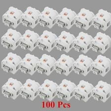 Lot 100 Motion Plus Adapter Sensor for WII Remote Game Controller White