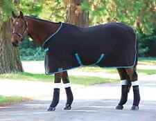 Shires Jersey Cooler Rug - Black/Turquoise