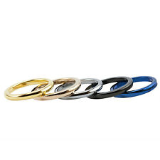 2mm Dome Tungsten Ring Quarter Sizes Blue, Gold, Rose, Black, Natural Colors