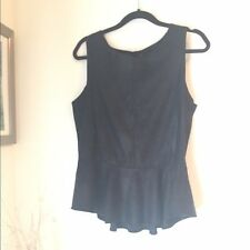 Saks 5th Ave Red Label Faux Leather Peplum Tank Size L