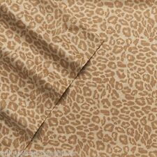 NEW! Juicy Couture Designer Bedding Cotton Sateen Sheet Set - Gold Leopard