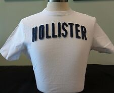 NEW MENS HOLLISTER S/S GRAPHIC T-SHIRT, WHITE, SIZE LARGE, ABERCROMBIE & FITCH
