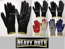 Lot 1,4 or 8 Pairs Palm Latex Rubber Coated Work Gloves Heavy Duty 1Size Fit All