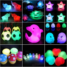 9Styles LED Battery Powered Color Changing Mood Lamp Night Light Romantic Decor