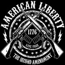 American Liberty Crest 2nd Amendment AR-15 Rifles Guns Patriotic T-Shirt Tee
