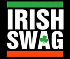 Irish Swag Ireland Pride Four Leaf Clover Party Funny T-Shirt Tee