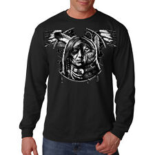 Wolf Dream Spirit Native American Indian Dream Catcher Long Sleeve T-Shirt Tee